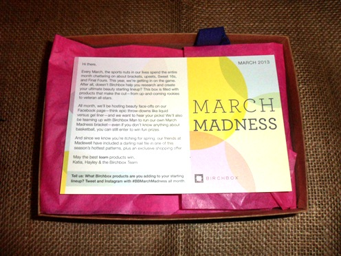 March Madness Birchbox