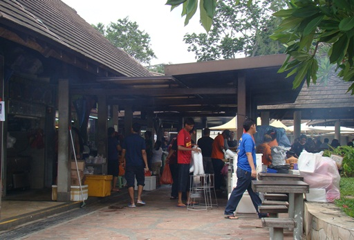 East Lagoon Food Village Satay stalls