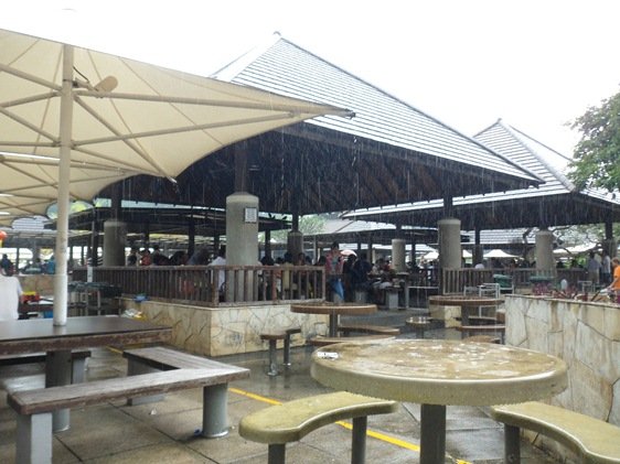 East Lagoon Food Village hawker stall Feb downpour