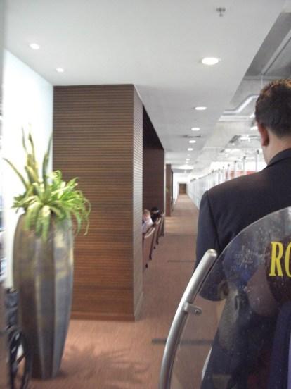 Thai Airways Bangkok First Class Lounge Cart through Business Class