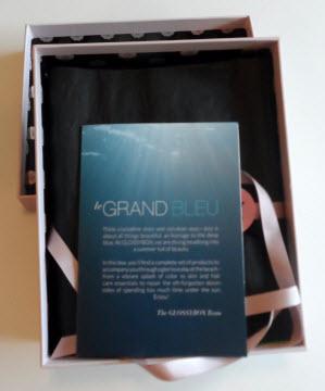 July Glossybox le Grand Bleu theme