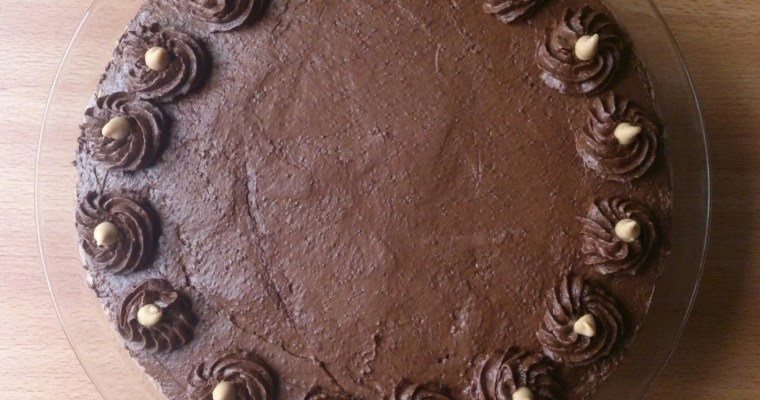 Peanut Butter and Chocolate Mousse Cake ( Gluten Free)
