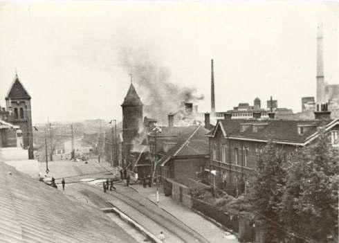 Bron: Michel Dreuw | Brand in station Heerlen 1944