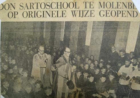 Bron: Limburgs Dagblad | Don Sartoschool te Molenberg op originele wijze geopend