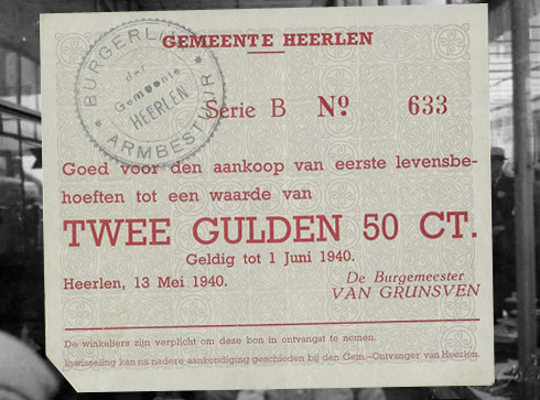 Bron: Geheugenvannederland.nl | Noodgeld Tweede Wereldoorlog Gemeente Heerlen 2,5 gulden