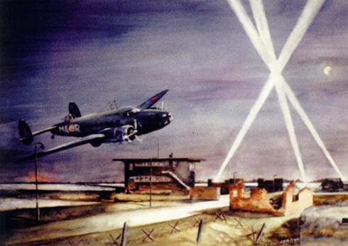 5 en 6 juli 1944 Kornwerderzand en Afsluitdijk | Een Lockheed Hudson gevlogen door Flight luitenant Menzies van SQN 161 stortte neer in het IJselmeer. Aan bood waren de geheimagenten Bockma, Kwint, Verhoef en Walter. Zij behoorden tot BBO (Bureau Bijzondere Opdrachten). Het wrak is na de oorlog geborgen en delen hiervan zijn in het museum Kornwerderzand tentoongesteld.
