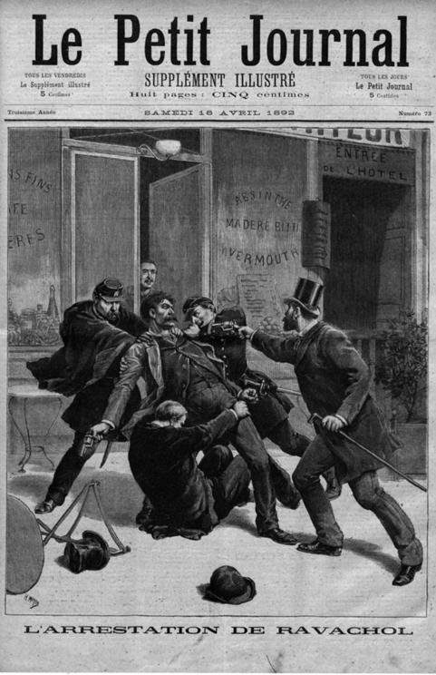 De arrestatie van Ravachol op dinsdag 29 maart 1892