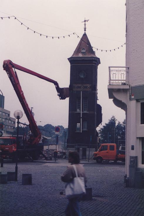 Bron: Privé collectie | Afbraak toren station Heerlen