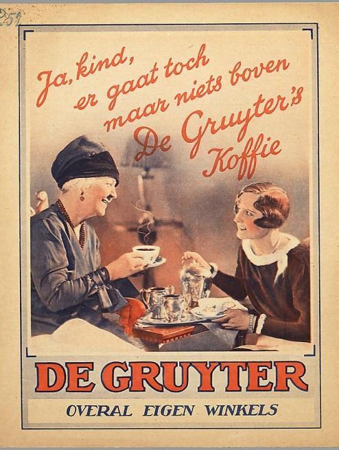 Bron: gahetna.nl | Reclame voor de Gruyter
