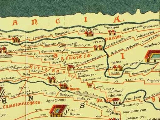 Bron: Hs-augsburg.de | Peutinger kaart detail
