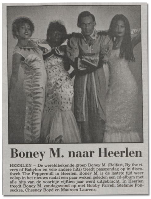 Bron: Limburgs Dagblad (6-4-1993) | Boney M