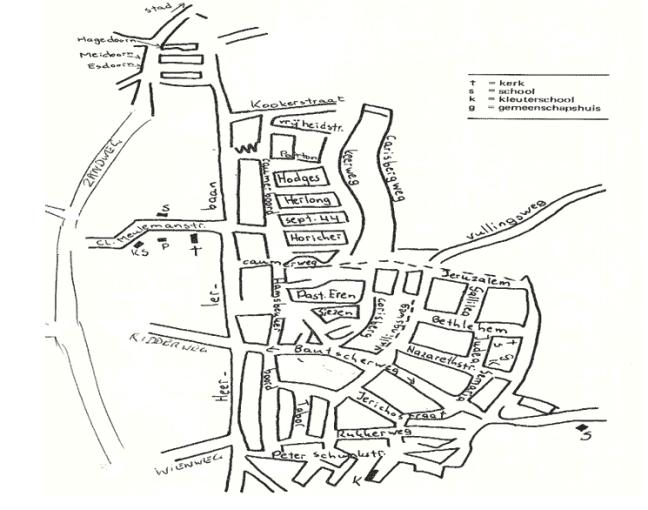Globale plattegrond van de Heerlerbaan eind 1974 (ontleend aan 'Zicht op Heerlerbaan')