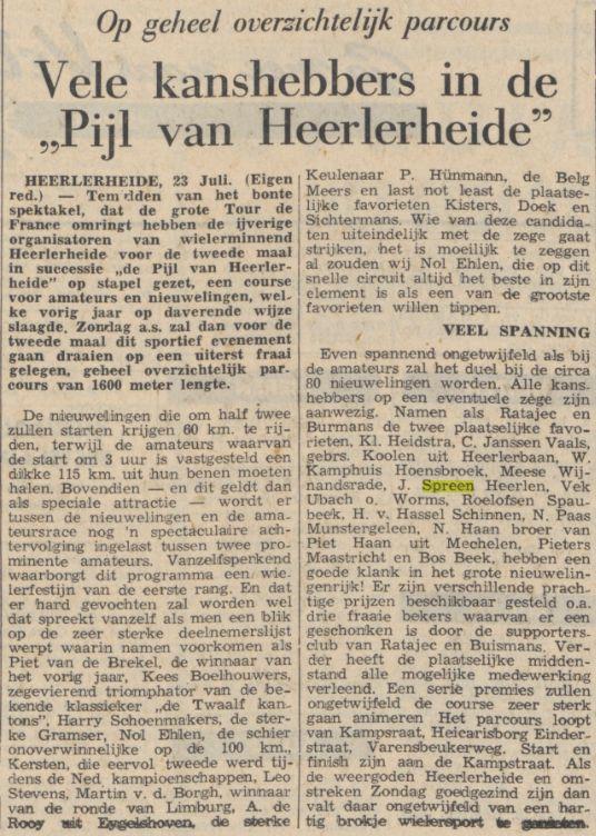 Krantenartikel 1954