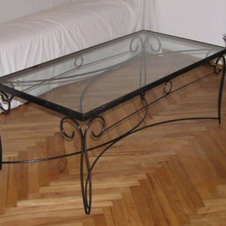 wrought iron coffee table with glass top kata no 2019