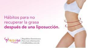 no recuperar la grasa después de una liposucción