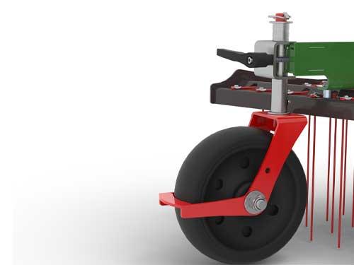 roue sans entretien, pivotante pour simplifier manoeuvres