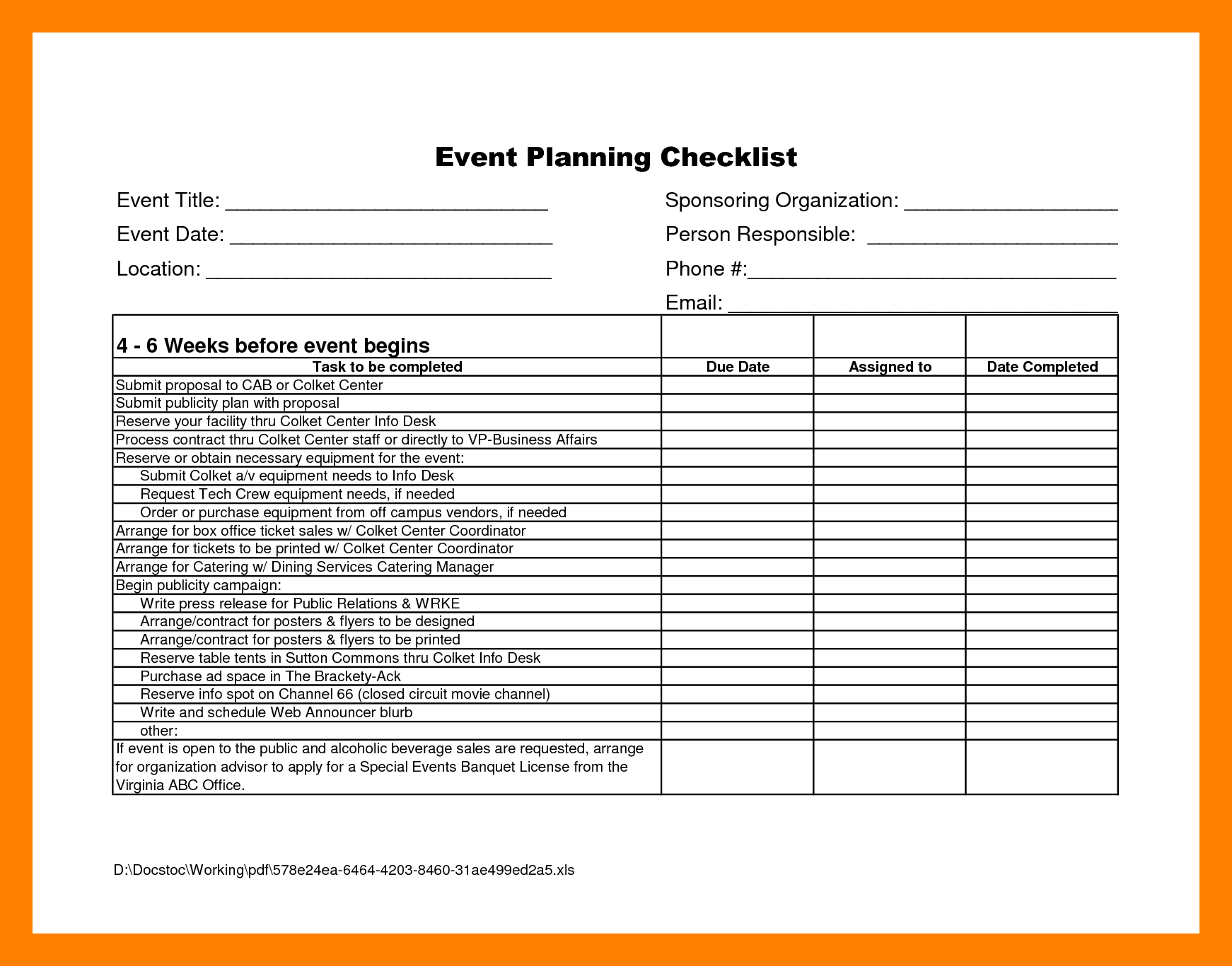 3 The Benefits Of Using Event Planning Template Free