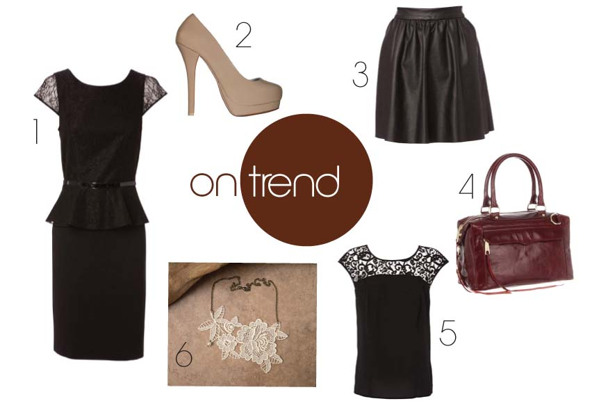 Trending - Leather + Lace // www.heidiandcoco.com