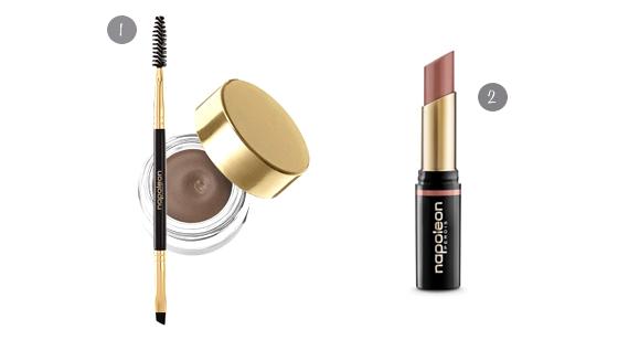 Eyebrow gel + nude lipstick / www.heidiandcoco.com