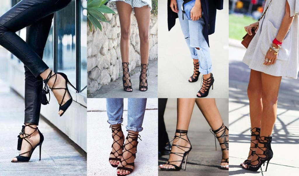 This seasons statement shoe, the lace up heel / www.heidiandcoco.com