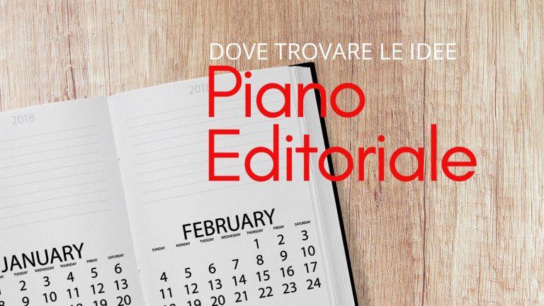 Piano editoriale idee