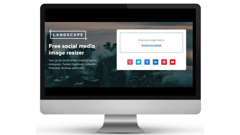 resize image online con landscape