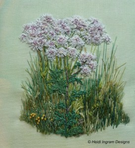 Hogweed embroidery