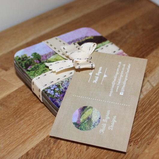 Coaster pack tied with ribbon