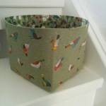 birds fabric storage box