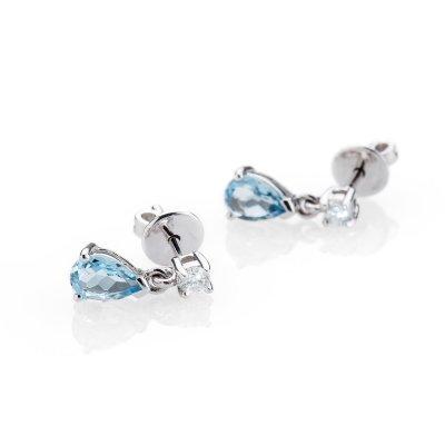 Heidi Kjeldsen Delightful Aquamarine and Diamond 18ct White Gold Earrings