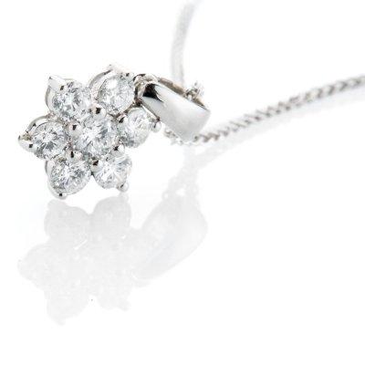 Heidi Kjeldsen Sparkling Diamond and 18ct White Gold Star Pendant