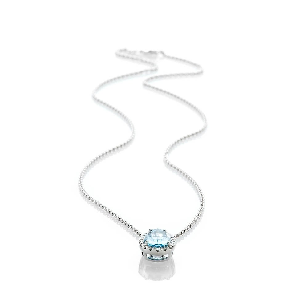 Heidi Kjeldsen Breath Taking Stunning Aquamarine And Diamond 18ct White Gold Pendant - P1089+W18TR183.8-1
