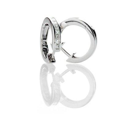 Heidi Kjeldsen Dazzling Diamond Hoop 18ct White Gold Earrings - ER2332-2