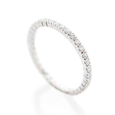 Heidi Kjeldsen Delicate Band 0.50cts Of Diamonds In An 18ct White Gold Full Eternity Ring R1267S