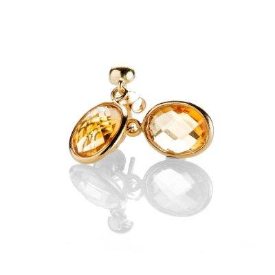 Heidi Kjeldsen Delightful Citrine Oval Drop Earrings In 18ct Yellow Gold - ER2214-2