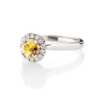 Heidi Kjeldsen Mesmerising Burmese Sphene And Diamond Cluster Ring In Platinum R1278
