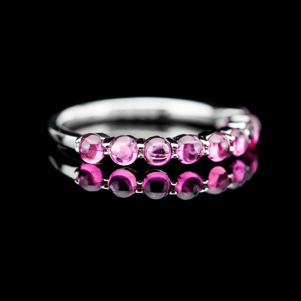 Heidi Kjeldsen Stylish Pink Natural Tourmaline And Gold Dress Ring - R1327-4