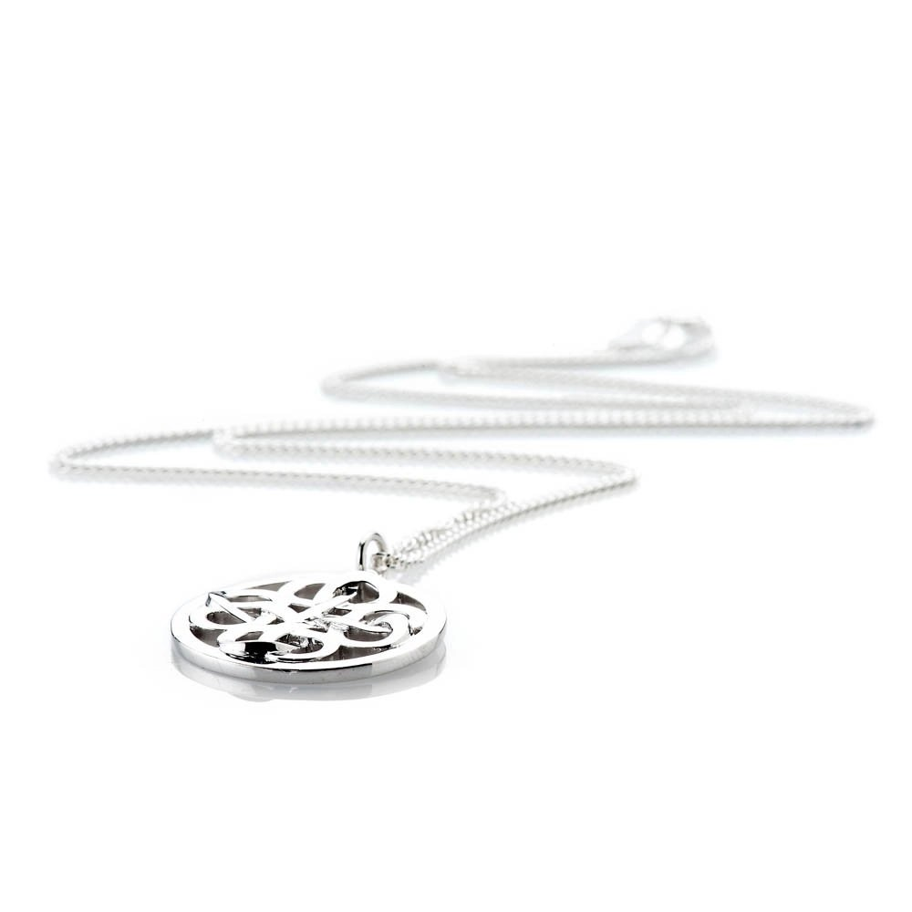 Heidi Kjeldsen Stylish Sterling Silver Viking Love Knot Large Pendant - P1230-1