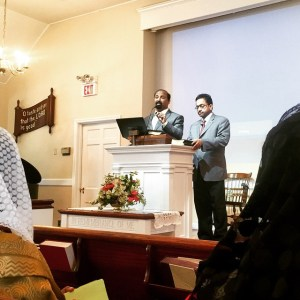 This Sunday I got to hear my first Malayalam sermon with English translation -in New Jersey Maplewood Bible Chapel