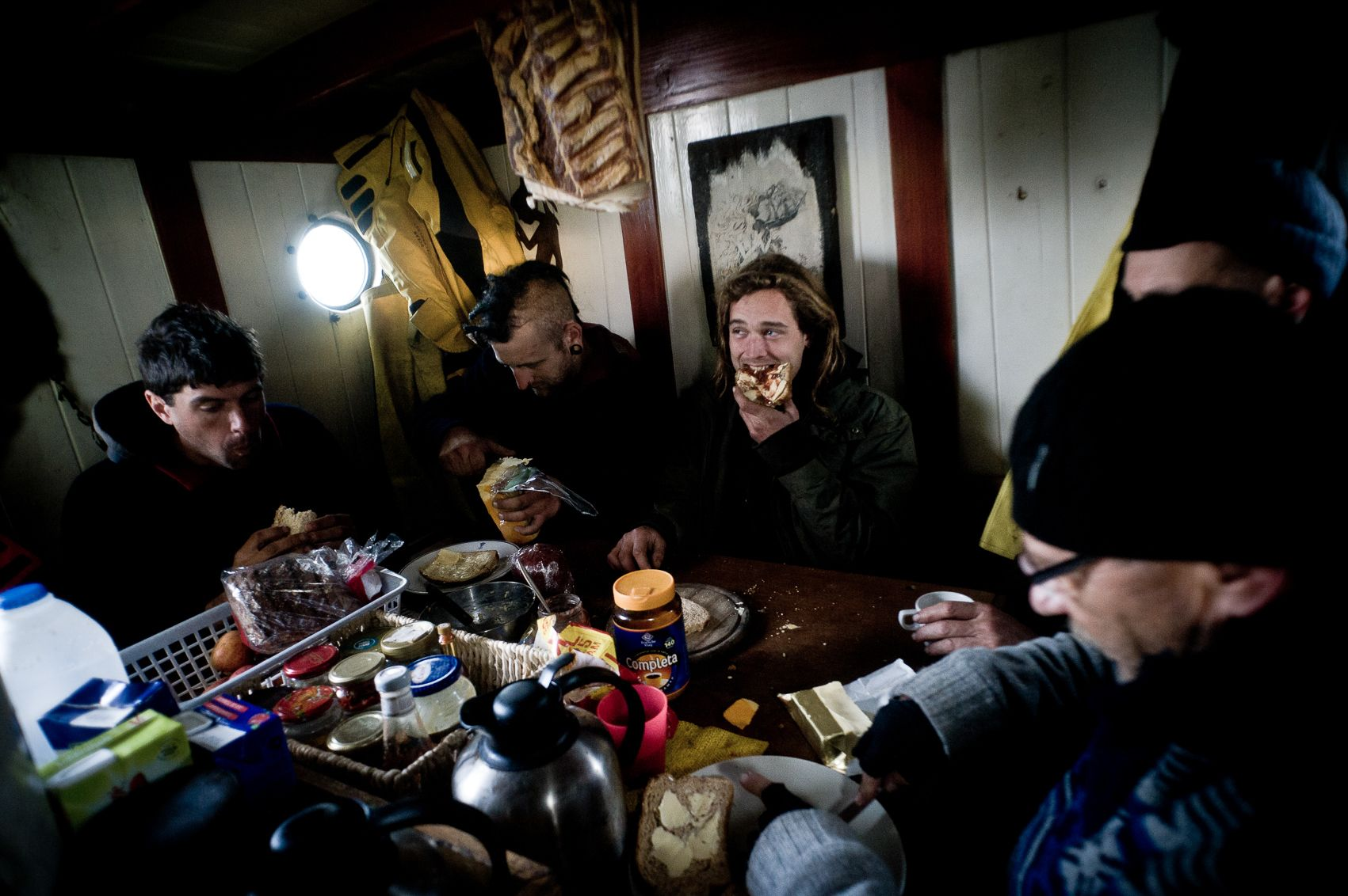 petit dejeuner à bord du trés Hombrés