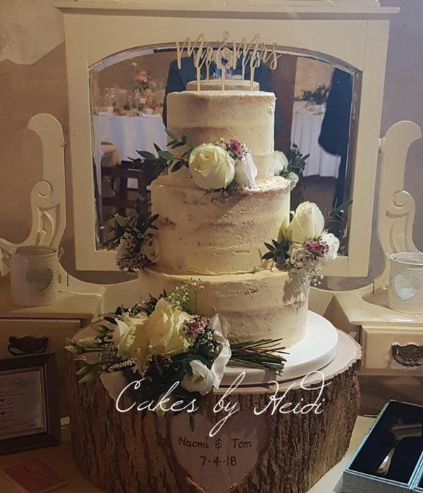 Riddlesden Naked Wedding Cake