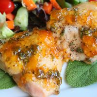 One Pan Apricot Sage Chicken