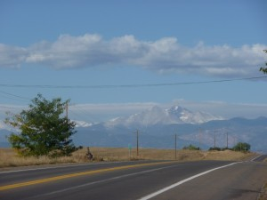 Longs Peak on October 7, 2009.  Elevation 14,259 feet.  Photo by H.M. Kerr-Schlaefer.