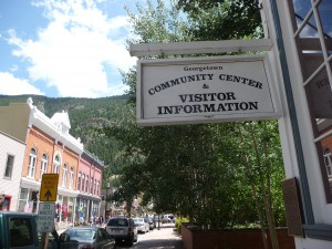 Historic Georgetown, Colorado.  Photo by H.M. Kerr-Schlaefer