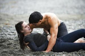 Bella & Jacob on the beach