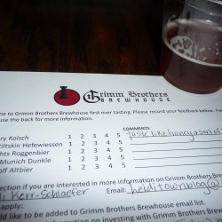 A Review: Grimm Brothers Brewhouse beer tasting at Pourhouse Bar & Grill