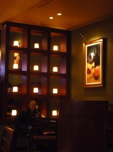 A cozy little corner at Monroe's Lounge in Loveland, Colorado.  Photo by H.M. Kerr-Schlaefer