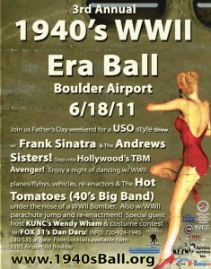 1940s WWII Era Ball event poster