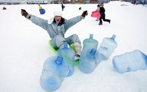 Human Bowling in Winter Park
