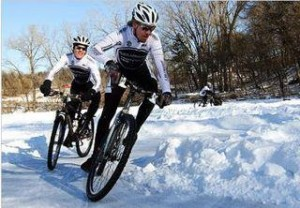 ice bike racing evergreen winter festival